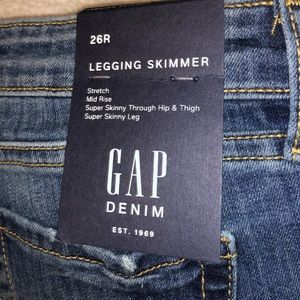 Gap Legging Skimmer size 26R NWT Stretch Midrise